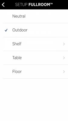 Libratone App FullRoom Auswahl