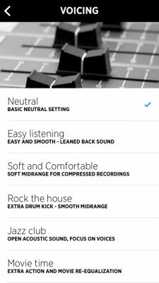 Libratone App Voicing (Equalizer)