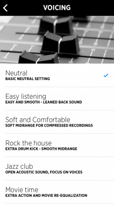 Libratone App Voicing (Equalizer)