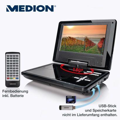 Tragbarer Medion DVD Player (www.aldi-nord.de)