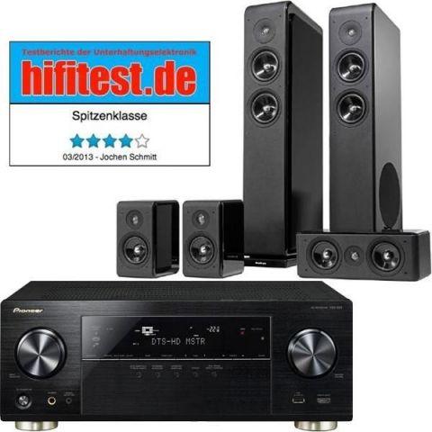 Pioneer VSX-924-K Netzwerk 7.2 Receiver, WLAN inkl. Audio Pro Avanto 5.0 Lautsprecher