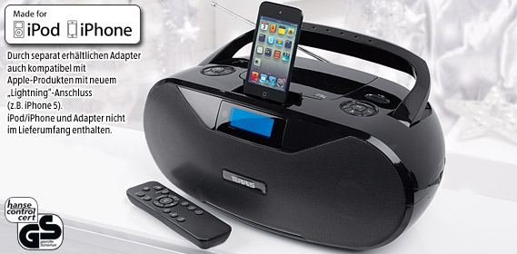 aldi s d tragbarer cd mp3 player f r ipod und iphone. Black Bedroom Furniture Sets. Home Design Ideas